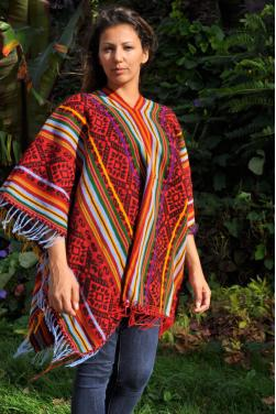 Authentique poncho Inca.