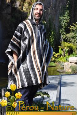 Poncho Ausangate homme laine alpaga douce, légère, écologique et durable