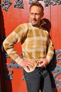 Pull camionneur homme en laine d'alpaga