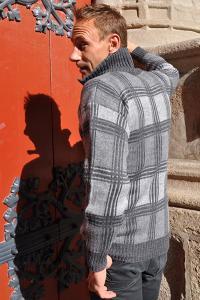 Pull camionneur homme en laine alpaga couleur gris anthracite